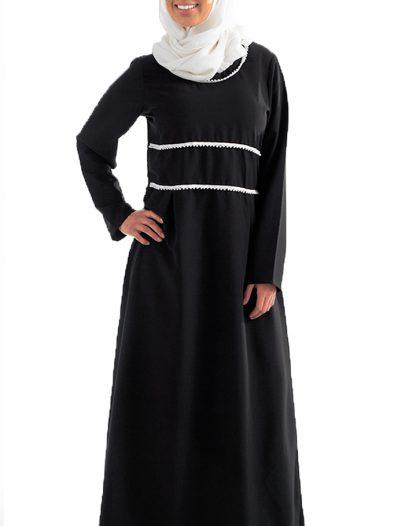 Black A Line Abaya