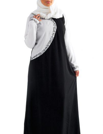 Doranga Abaya Black & White Combo