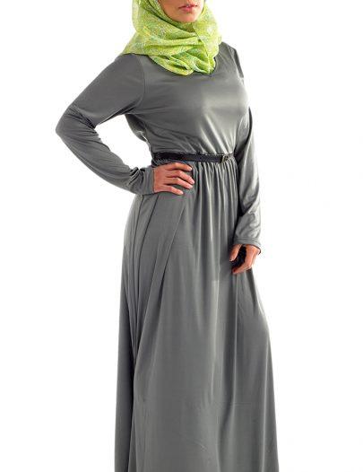 Classic Fit Knit Abaya Black