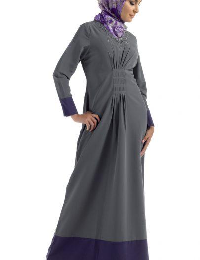 Studded Abaya Black