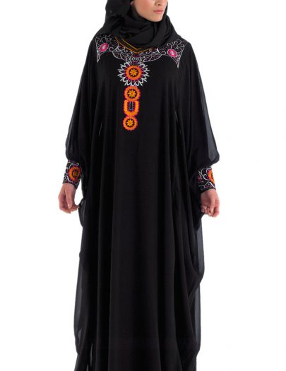 Black Abaya Kaftan Style For Eid And Special Occassion