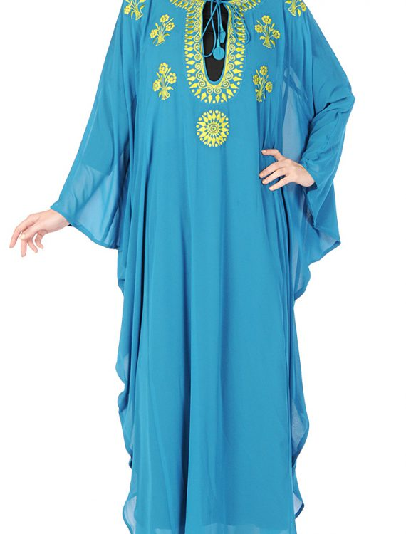 Butterfly Embroidered Kaftan