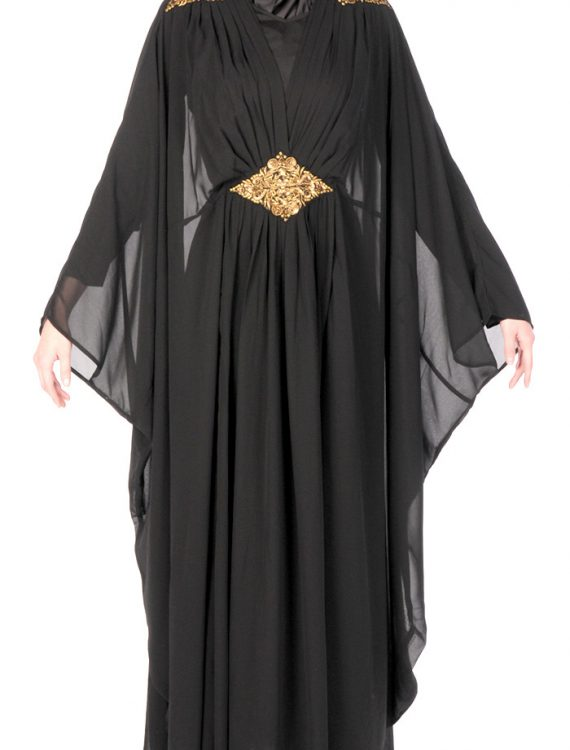 Arabian Kaftan With Gold Detail Black