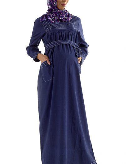 Dahlia Cotton Maternity Abaya Black