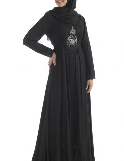 Saudi Black Abaya Dress Black