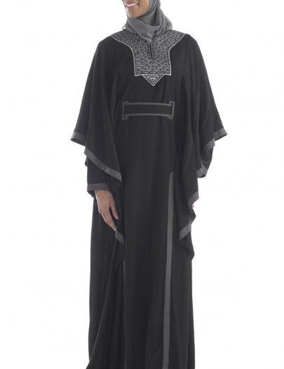 Modest Sequin Abaya Black