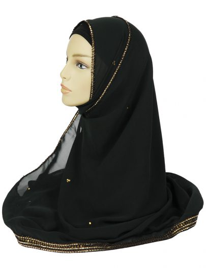 Bottle Green Georgette Hijab