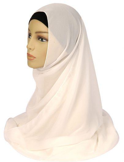 White Georgette Hijab