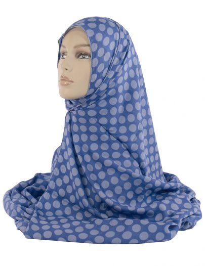 Blue Polka Dot Hijab