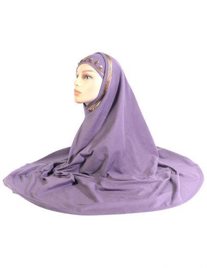 Violet 2 Piece Sequin Al-Amirah Hijab
