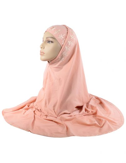 2 Piece Peach Al-Amirah Hijab