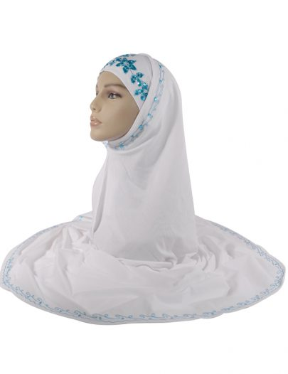 White And Blue Sequin Al-Amirah Hijab