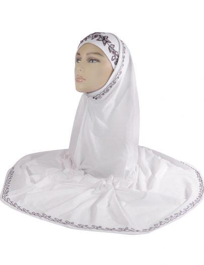 White And Purple Sequin Al-Amirah Hijab