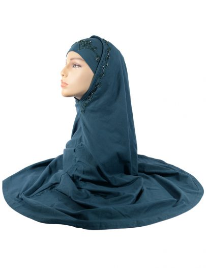 Teal Sequin Al-Amirah Hijab