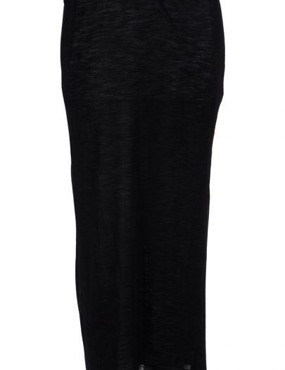 Black Viscose Knit Long Slip Skirt Under Dress