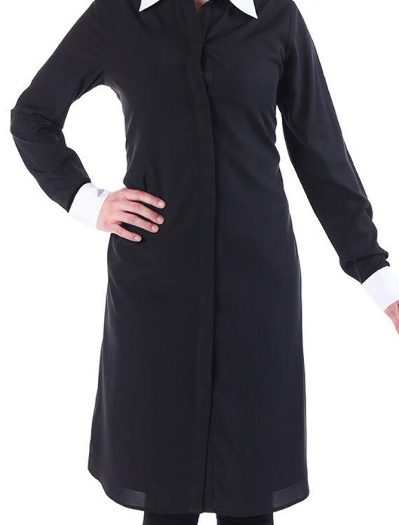 Zariya Double Pleated Crepe Tunic Black