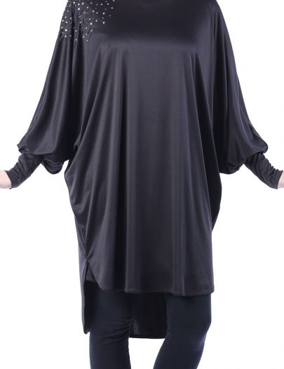 Sequin Butterfly Tunic Black