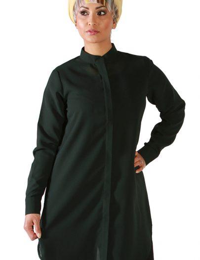 Dark Green Georgette Kurti Shirt Green