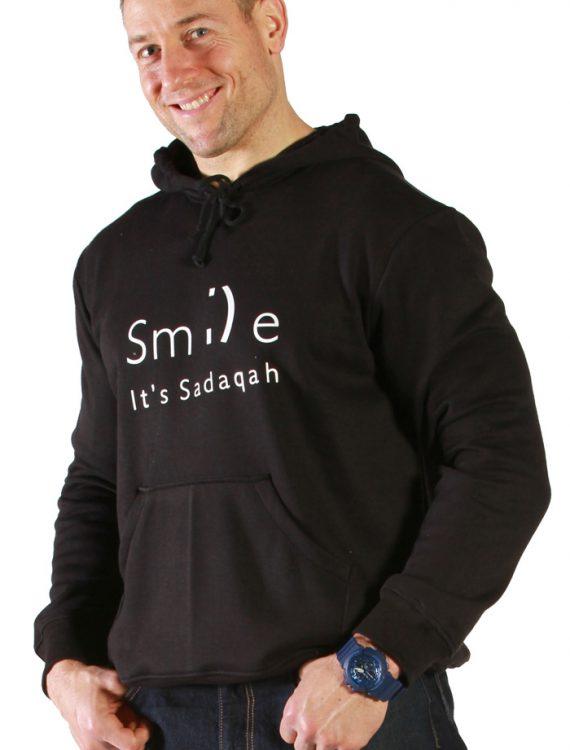 Smile Men's Hoodie Black