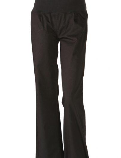 Elegant Cotton Twill Maternity Pants Black