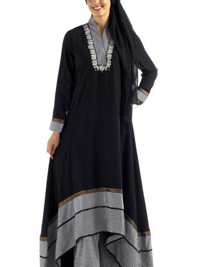 Black Print Salwar Kameez Set