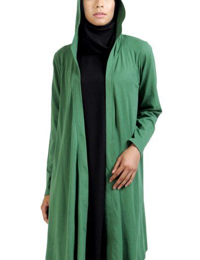 Front Open Hoodie- Cardigan-Green