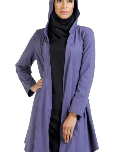 Front Open Hoodie- Cardigan-Purple