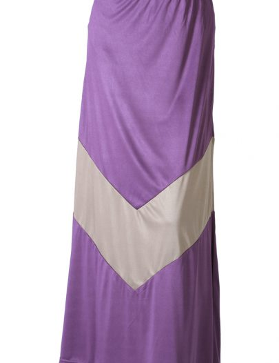 Banafsha Poly Knit Skirt Purple