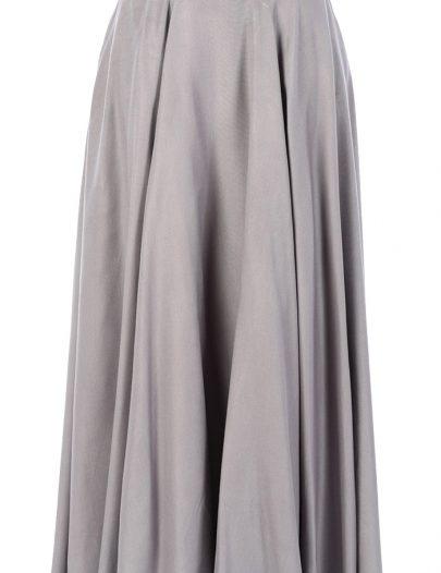 Spring Rayon Skirt Black