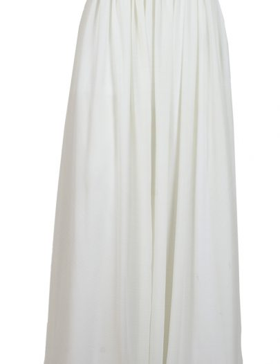 Basic White Georgette Skirt Ivory White