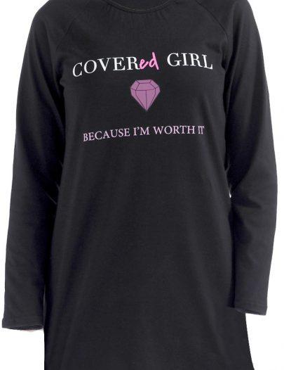 Covered Girl T-Shirt Black