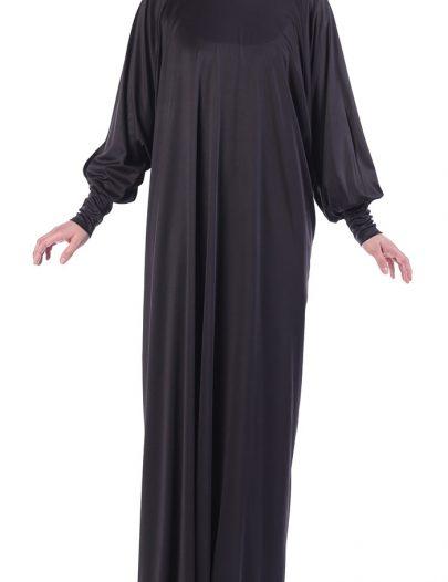 Black Knit Dress Abaya