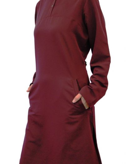 "35"" Extra Long Uniform Kurti Maroon"