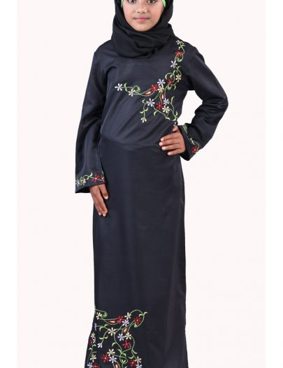 Aabish Girls Abaya Black