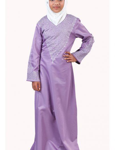 Abeera Girls Abaya Violet