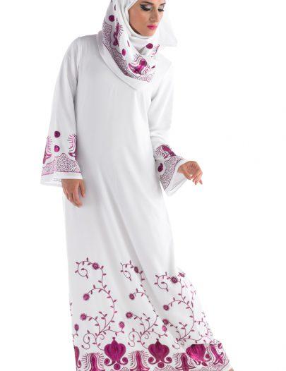 Abyad Sequin Abaya White
