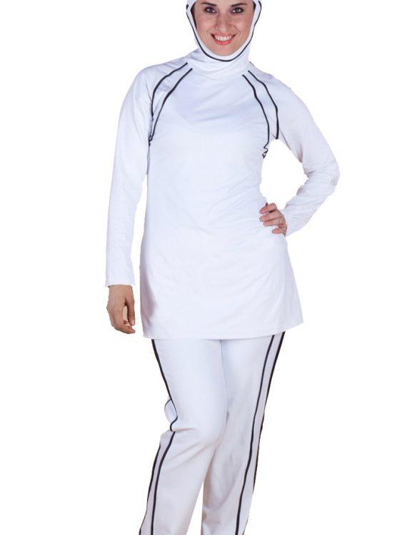 Accent Swimwear White/Black Trims