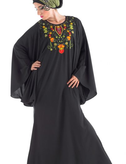 Alazahar Dubai Abaya Black