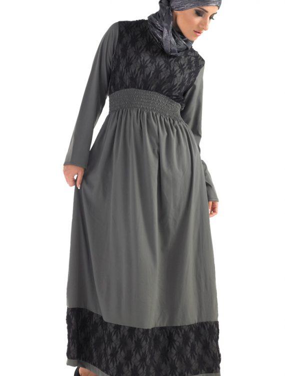 Aliya Dubai Abaya Grey