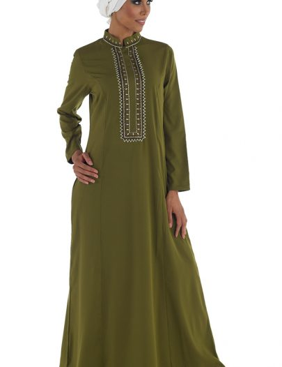 Aseel Abaya Olive Green