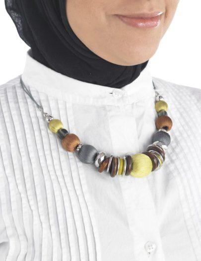 Beaded Round Necklace