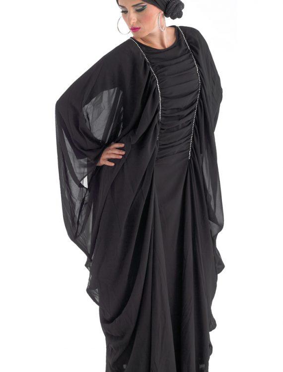 Belle Dubai Abaya Black