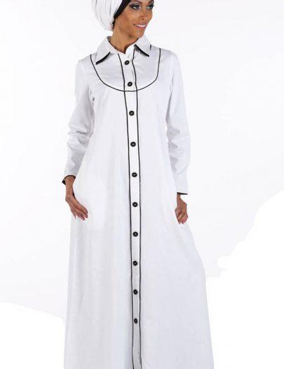 Black And White Abaya