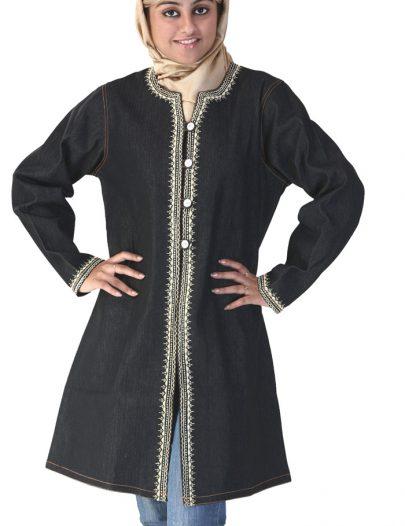 Black Denim Long Jacket