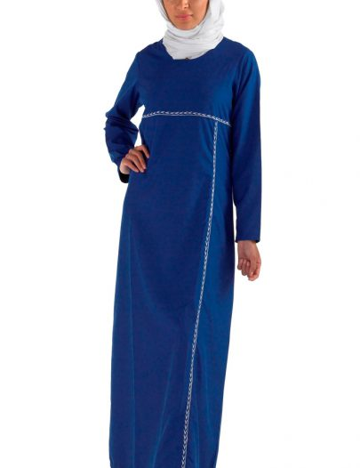 Blue Everyday Slip On Abaya Monaco