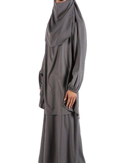Burqa With Niqab Grey