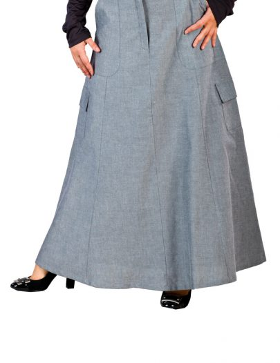 Chambray Skirt Blue