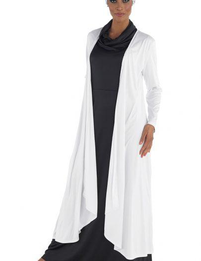 Classy Shrug Robe White