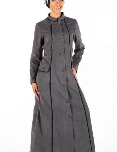 Corduroy Coat Style Jacket Dark Grey