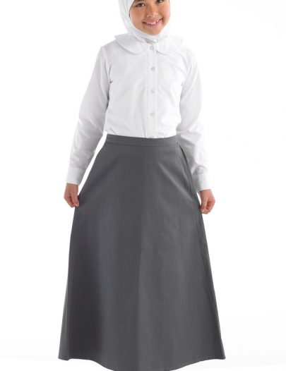 Cotton Twill Uniform Skirt- Kids Sizes Grey